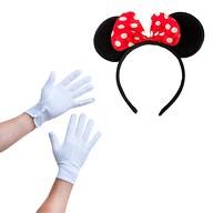 Damen Maus Mouse Kostüm Accessoire Set - Haarreifen mit Maus Ohren + Handschuhe