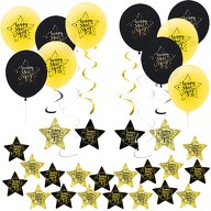 Happy New Year Silvester Neujahr Party Feier Deko Set - Ballons Girlanden Konfetti