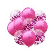 Konfetti Luftballon Set 10 Stk. Hochzeit JGA Geburtstag Baby Shower Party Deko pink