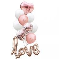 Konfetti Folien Luftballon Set Love Hochzeit JGA Party Geburtstag - roségold