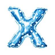 Folien Luftballon Buchstabe X Kinder Geburtstag Baby Shower Party Deko Ballon - blau