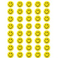 40 Stück Smiley Button Anstecker mit Sicherheitsnadel - gelb