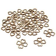 100 Mini Holz Herzen mit Loch Dekoherzen Tischdeko für Hochzeit Holzdeko für Verzierung Basteln