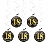 5 Deckenhänger Wirbel Spiral Girlanden mit Zahl 18 Geburtstag Jubiläum Party Feier Deko