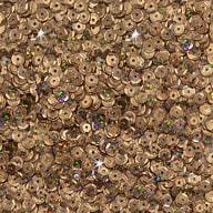 1400 Pailletten Konfetti gewölbt - champagner Glitzereffekt