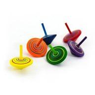 6 Holzkreisel Spiel Spaß & Lernen - bunt bemalt