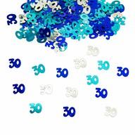 Konfetti 30 Geburtstag 500 Stk. Streudeko Streuteile Tisch Deko - blau türkis silber