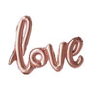 Folien Luftballon Love Schriftzug Folienballon für Hochzeit JGA Hochzeitstag - rosé gold
