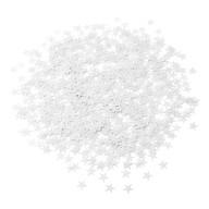 Stern Konfetti Über 500 Stk Tischdeko Geburtstag Weihnachten Fasching Karneval Party - weiß