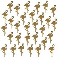 30 Flamingo Wand Sticker Wandaufkleber Wandtattoo Wanddeko Basteln gold