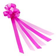 Geschenkschleife mit Geschenkband Groß Deko Schleifen - rosa pink