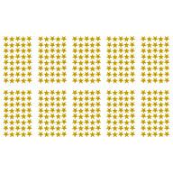 400x Sterne Sticker Stern Aufkleber Holo Effekt glitzernd zum Basteln Scrapbooking Dekoration - gold