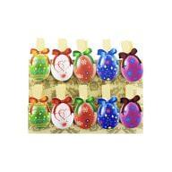 10 Mini Wäscheklammern Holz Miniklammern Deko Klammern - bunte Eier