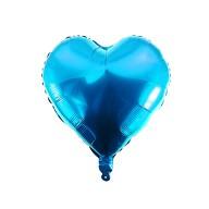 Folien Luftballon Herz Form Kinder Geburtstag Baby Shower Junge Silvester Party JGA Hochzeit - blau
