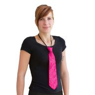 Krawatte Schlips Pailletten Glitzer - pink