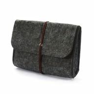 Filz Tasche Täschchen Etui für Smartphone, Festplatte - dunkel grau