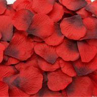 100 Rosenblätter Rosenblüten Hochzeit Deko Valentinstag - rot-schwarz
