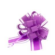 Geschenkschleife Deko Schleife für Geschenke Tüten Zuckertüte Weihnachten Geschenkdeko - dunkellila