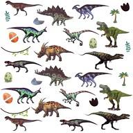 32 Dino Sticker Dinosaurier Aufkleber Kinder Geburtstag Spielen Basteln