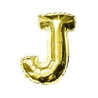 Folien Luftballon Buchstabe J Geburtstag goldene Hochzeit Party Deko Ballon - gold