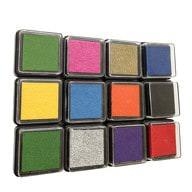 12 Stempelkissen Stempel Farbe - bunt