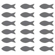 18 Holz Fische Streudeko Taufe Kommunion Konfirmation Firmung - Echtholz grau