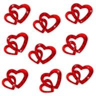 Herz Konfetti Tischdeko Liebe Romantik Hochzeitsdeko - rot glitzer