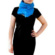 Tuch Schal Chiffon Stola Fashion Outfit Damen Tücher -  blau