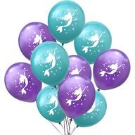 Meerjungfrau Luftballon Set Mädchen Kinder Geburtstag Baby Shower Einschulung Party lila türkis