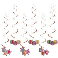 Spiral Deckenhänger Wirbel Girlanden Set 123 ABC Konfetti Rosé für Schuleinführung Einschulung Deko