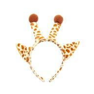 Haarreif Haarreifen Giraffe mit Ohren und Hörnern Kostüm Accessoire für Fasching Karneval