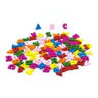 ABC Holz Spielzeug Buchstaben Alphabet Deko ca. 100 Teile - bunt