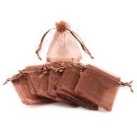 Organzasäckchen Organzabeutel Schmuckbeutel Säckchen Organza braun