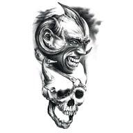 Temporäres Tattoo Klebetattoo Tättowierung - On Fire