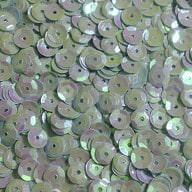 1400 Pailletten Konfetti gewölbt - helltürkis irisierend