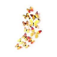 3D Schmetterlinge 12er Set Wandtattoo Wandsticker Wanddeko - Real gelb