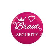 Button JGA Junggesellinnenabschied Hochzeit - Braut Security 2
