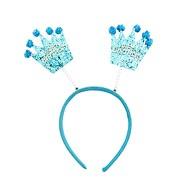 Haarreifen Happy Birthday Haarreif mit wackelnden Pailletten Kronen Kinder Geburtstag - blau