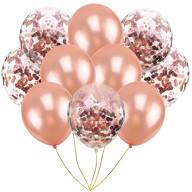 Konfetti Luftballon Set 10 Stk Geburtstag Hochzeit JGA champagner weiß