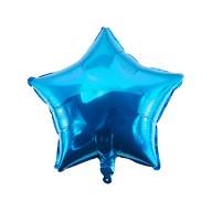 Folien Luftballon Stern Form Kinder Geburtstag Baby Shower Junge Silvester Party JGA Hochzeit - blau