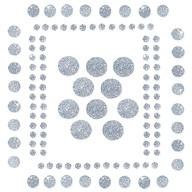 120 Punkte Sticker Aufkleber Set mit Glitzer Scrapbooking - silber