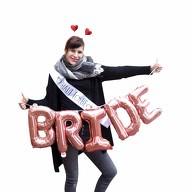 Bride To Be JGA Hochzeit Accessoire Set - Schärpe Folien Ballon Girlande Haarreifen