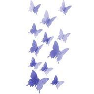 3D Schmetterlinge 12er Set Wandtattoo Wandsticker Wanddeko - lila