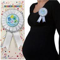 Brosche Abzeichen Schwangerschaft Mama Baby Shower - weiß