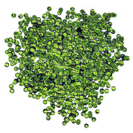 1400 Pailletten Konfetti gewölbt 6 mm - grasgrün