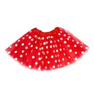 Tutu Tütü Damen Rock rot weiß Gepunktet Kostüm Accessoire Fasching Karneval