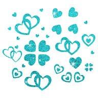 Herz Sticker Set Glitter Glitzernd - türkis
