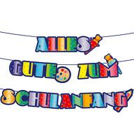 Schuleinführung Girlande Alles Gute zum Schulanfang Banner Hänge Deko für Einschulung Jungs Mädchen