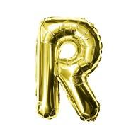 Folien Luftballon Buchstabe R Geburtstag goldene Hochzeit Party Deko Ballon - gold