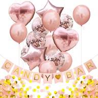 Candybar Hochzeit JGA Geburtstag Party Deko Set - Girlande Konfetti Luftballons